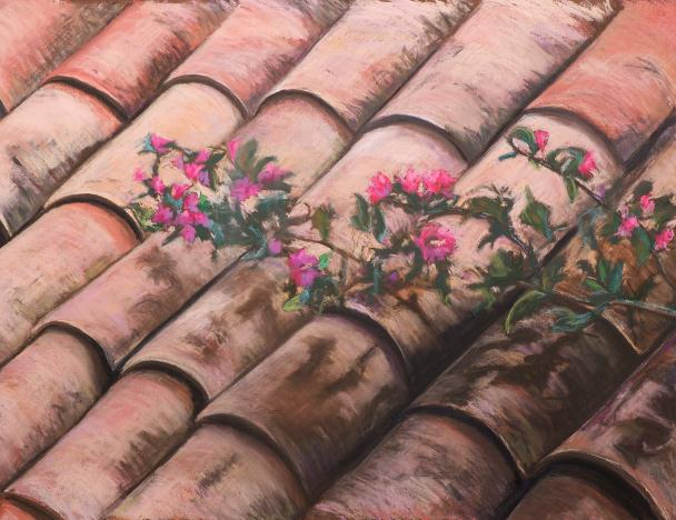 Bouganvilla on a Hot Tile Roof